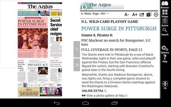 The Argus e-Edition apk screenshot