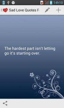 Sad Love Quotes apk screenshot