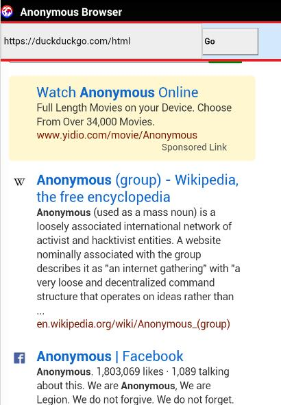 Anonymous Browser for Android - APK Download