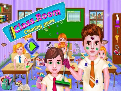 Poster Aula giochi di pulizia