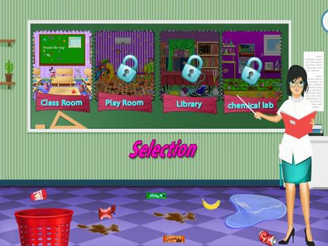 11 Schermata Aula giochi di pulizia