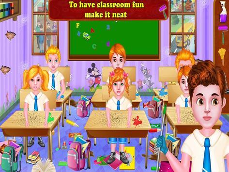 13 Schermata Aula giochi di pulizia