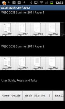 GCSE Maths HT WJEC June 2011 poster