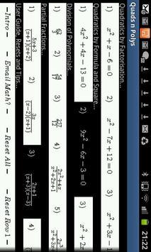 Quadratics & Partial Fractions poster