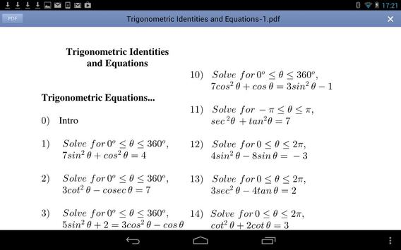 Trig Equations Identities APK Download Free Education APP for – Trig Equations Worksheet