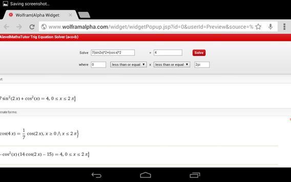 Trig Equations & Identities apk screenshot