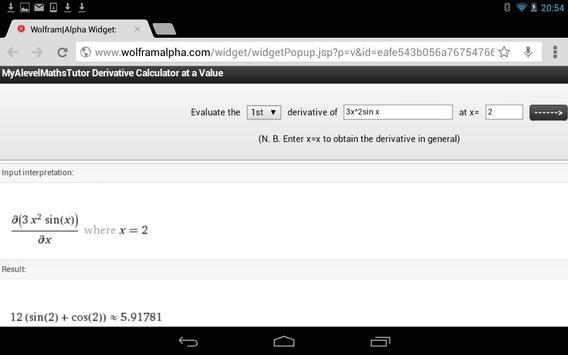 Differentiation Calculator + poster