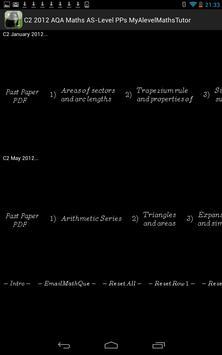 C2 AQA 2012 Past Papers apk screenshot