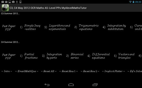 C3-4 OCR May 2012 Past Papers apk screenshot