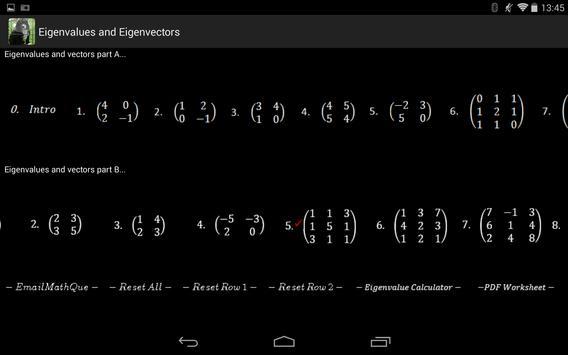 Linear Algebra Live Worksheet screenshot 12