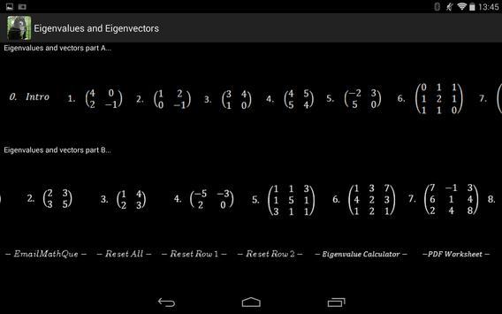 Linear Algebra Live Worksheet screenshot 1