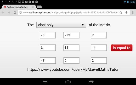 Matrix Char Poly Calculator screenshot 6