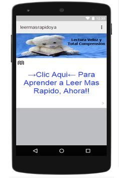 Leer Mas Rapido Lectura Rapida apk screenshot