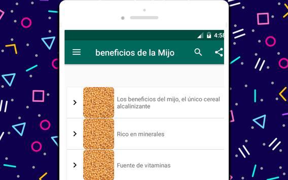 beneficios de la Mijo screenshot 3