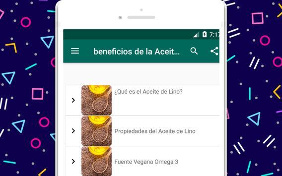 beneficios de la Aceite de semilla de lino screenshot 3