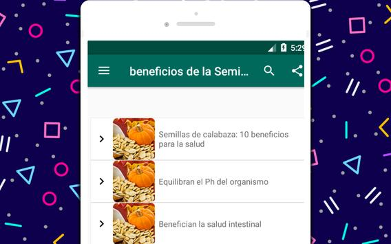 beneficios de la Semilla de calabaza screenshot 3