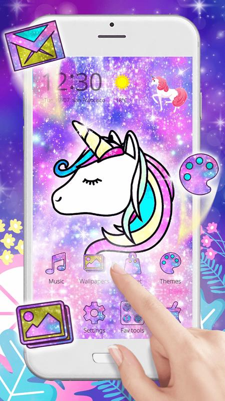 Glitter Galaxy Unicorn For Android Apk Download