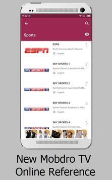 New App Mobdro tv Reference apk screenshot
