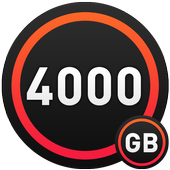4000 GB free storage space booster prank. icon