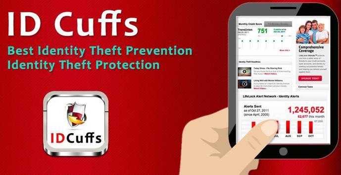 ID Cuffs Identity Theft poster