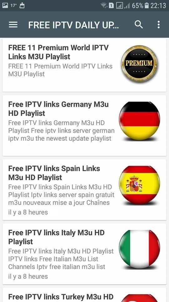 FREE IPTV DAILY UPDATES for Android - APK Download