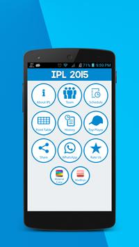 Live Updates for IPL 2015 screenshot 1