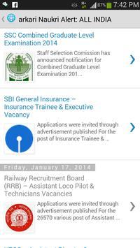 Free Job Alert apk screenshot