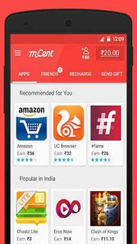 mCent-Free Mobile Recharge(free) screenshot 2