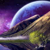 free live space wallpapers icon