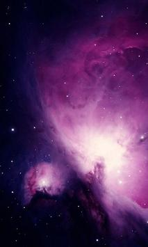 free moving galaxy wallpaper poster