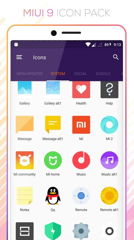MIUI 9 - Icon Pack FREE APK Download