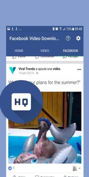 HD Video Downloader for fb - Speed screenshot 1