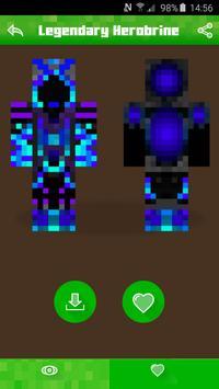 Herobrine Skins for Minecraft apk screenshot