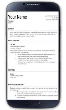 cv maker resume maker apk free education app for