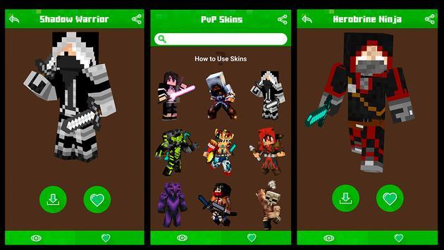 PvP Skins for Minecraft PE &PC apk screenshot
