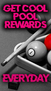 Free coins - Pool Instant Rewards for eight ball poster
