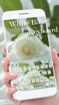 Love Rose Theme for Magic Touch Keyboard poster