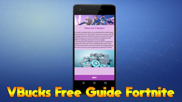 V-Bucks Free Guide Fortnite screenshot 1