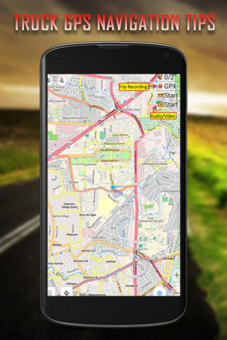 Free Truck GPS Navigation Tips poster