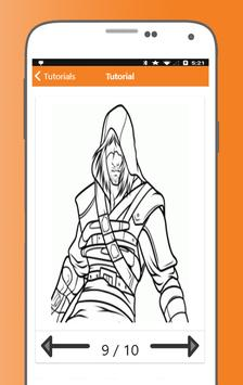 How to Draw Assassins Creed Characters screenshot 6