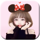 Korean Cute Girly wallpapers Free icon