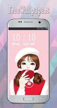 Korean Cute Girly wallpapers Free poster