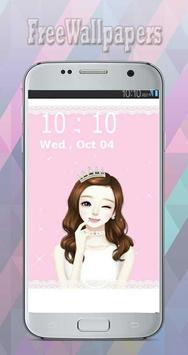 Korean Cute Girly wallpapers Free screenshot 1