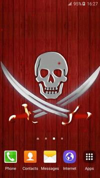 Pirate Flag Live Wallpaper poster