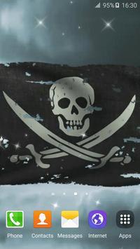 Pirate Flag Live Wallpaper screenshot 1