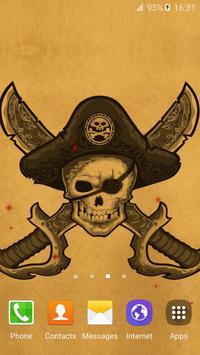 Pirate Flag Live Wallpaper apk screenshot