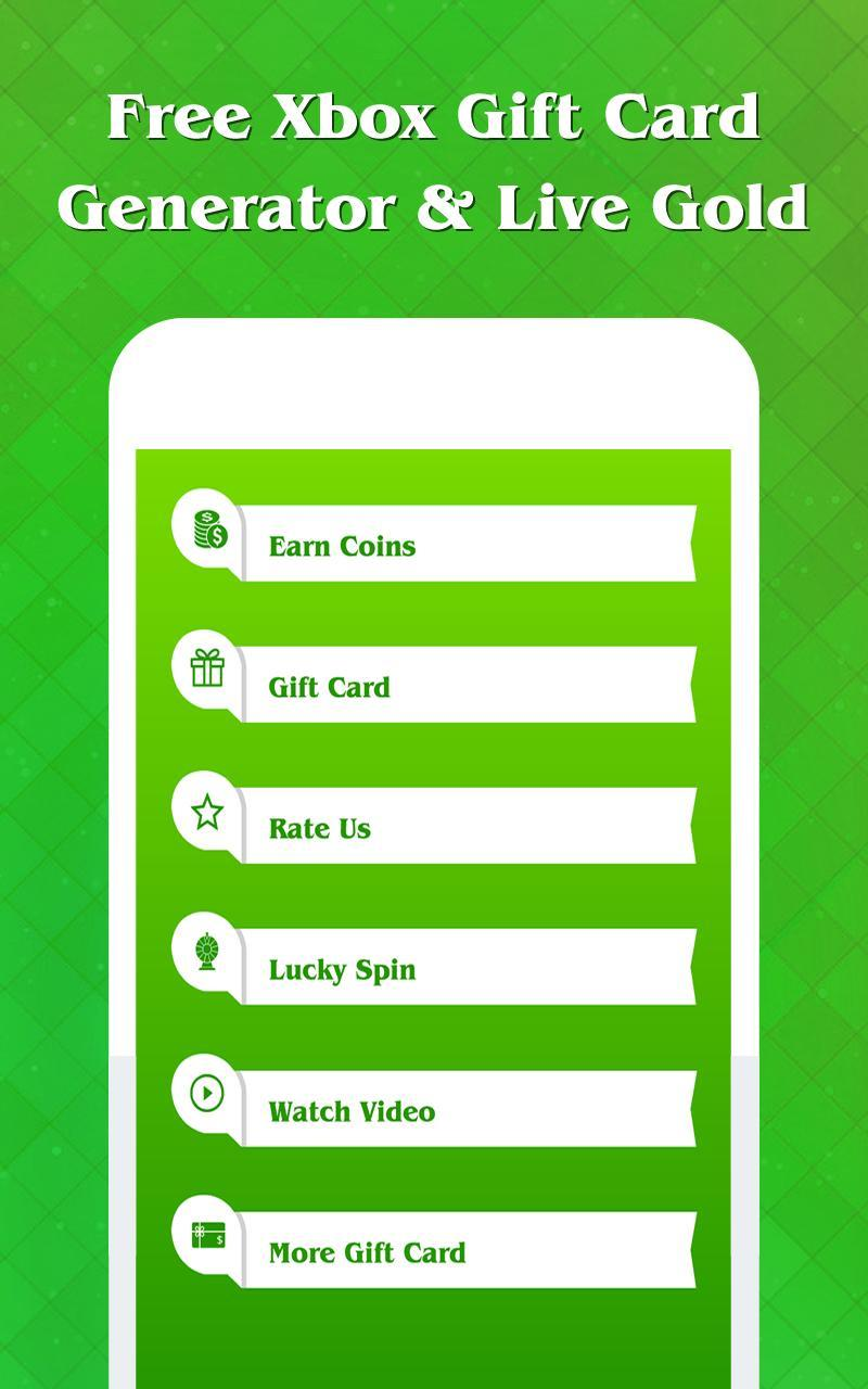 Free Xbox Gift Card Generator & Live Gold for Xbox для Андроид