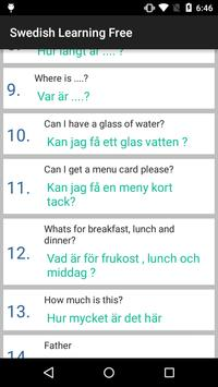 Swedish Learning Free apk screenshot