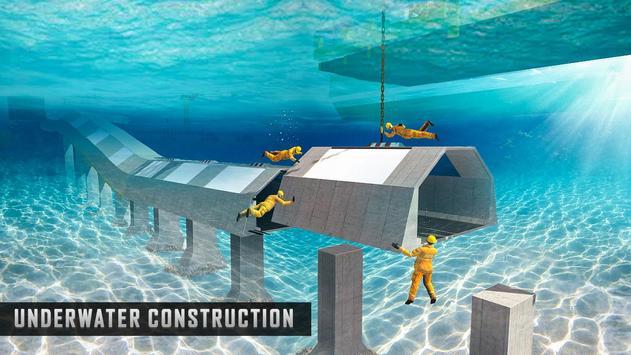 Underwater Road Builder: Bridge Construction 2019 screenshot 2