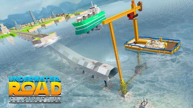 Underwater Road Builder: Bridge Construction 2019 screenshot 3